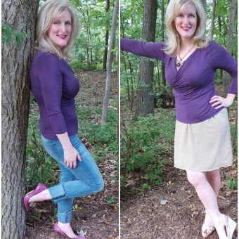 Aubergine for Fall! Confidence with Monroe and Main