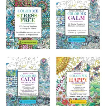 Adult Coloring Books: Color Me Stress-Free / Color Me Calm
