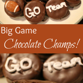 Big Game Chocolate Champs No Bake Cookies
