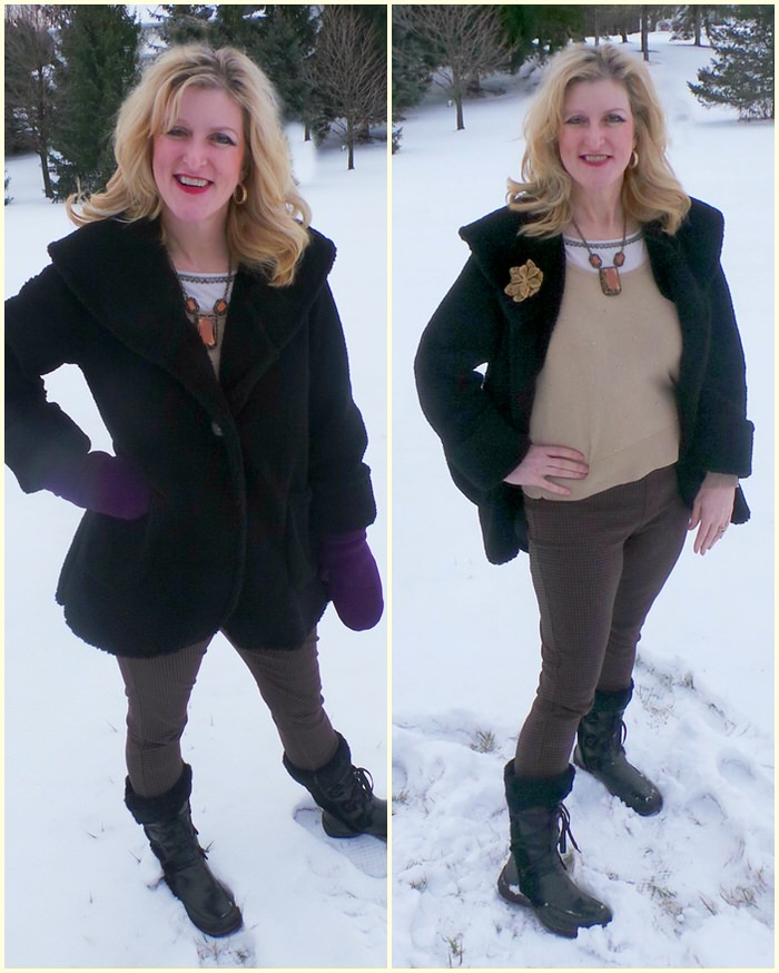Janska libby coat sherpa black