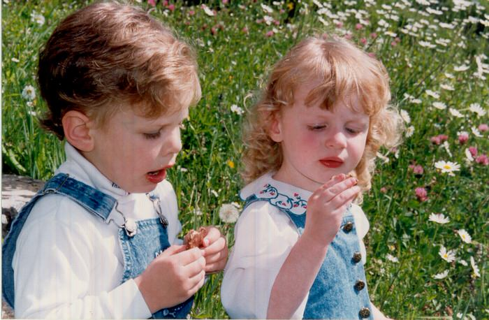 American Children enjoying Chocolat Frey Still Blonde after all these YEARS