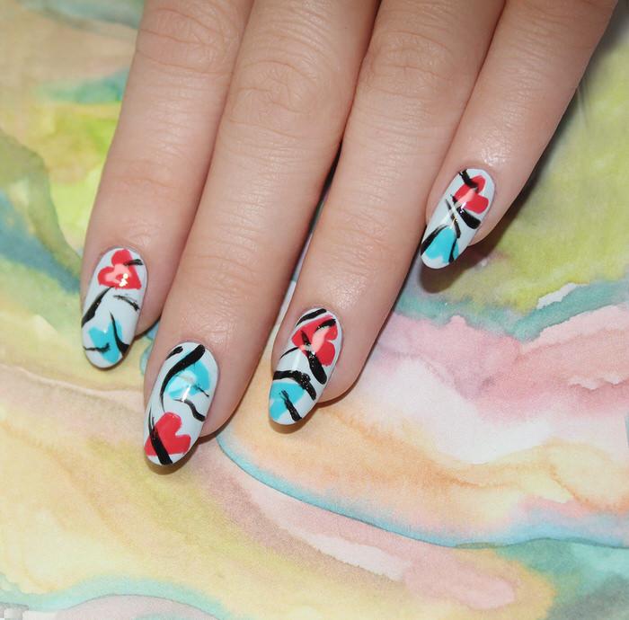 Modern Valentines Manicures Nail Art