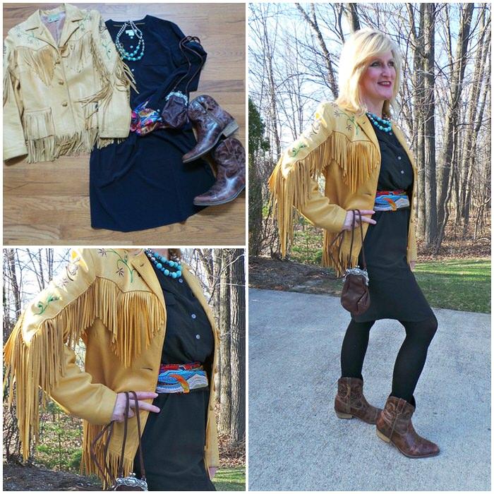 ORVIS BLACK FLORENCE DRESS
