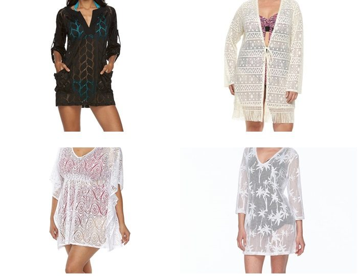crochet Lace Beach Coverups Women over 45 Women over 50 Kohls