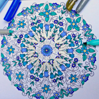 Inkspirations Adult Coloring Books, Beth Logan