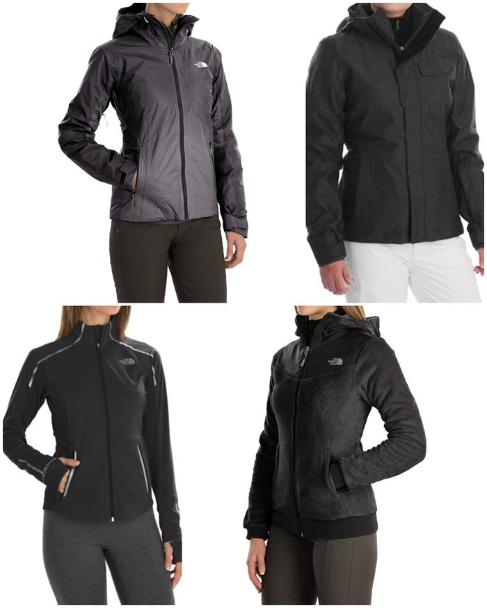 Discounted Black North Face Black Coats jackets