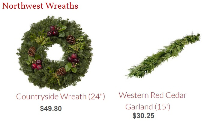 northwest wreaths garland fresh greens