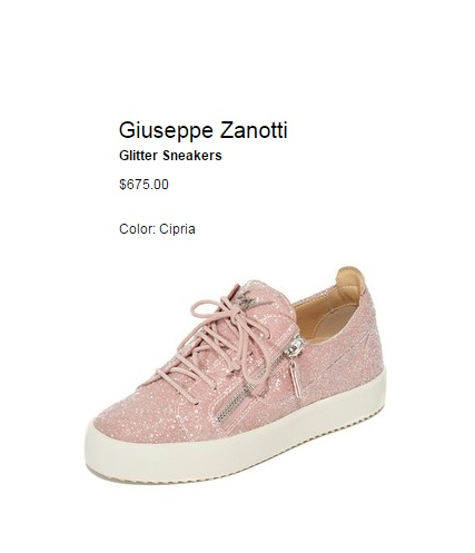 Giuseppe Zanotti glitter Cute pink sneakers