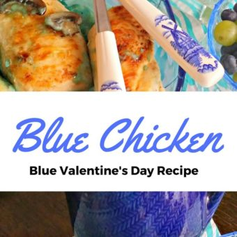 Blue Chicken Recipe for your Blue Valentine's Day!