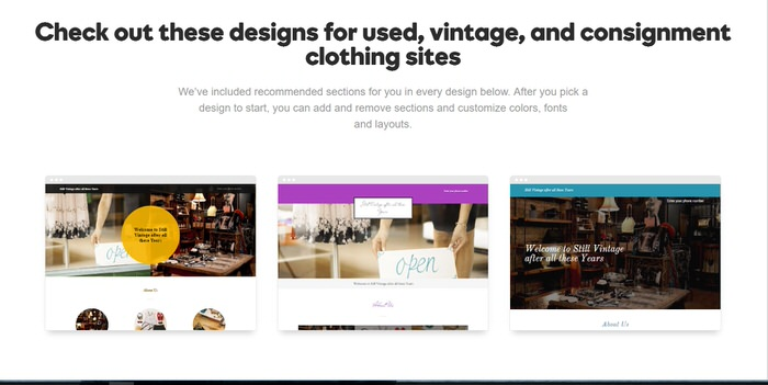 How to set up an Online Vintage Store and Have it Open in 3 hours Choosing a theme Godaddy GoCentral Website builder