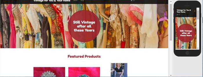 How to set up an Online Vintage Store and Have it Open in 3 hours Home page Godaddy GoCentral Website builder