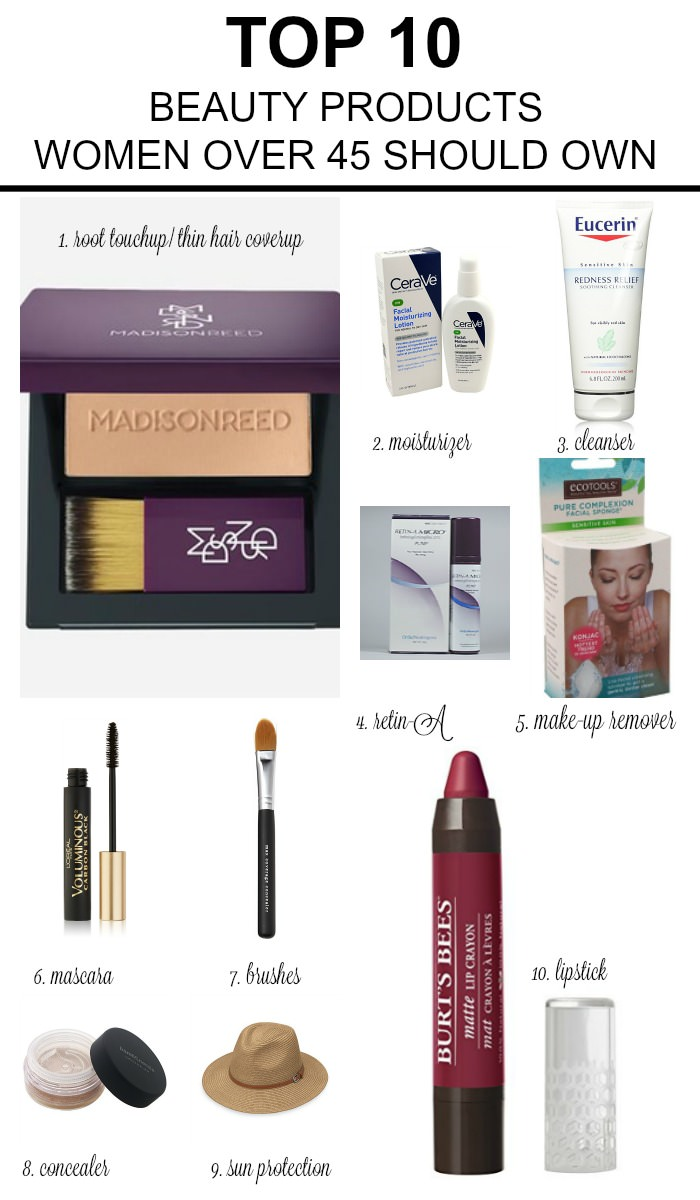 Top ten beauty products every women over 45 should own
