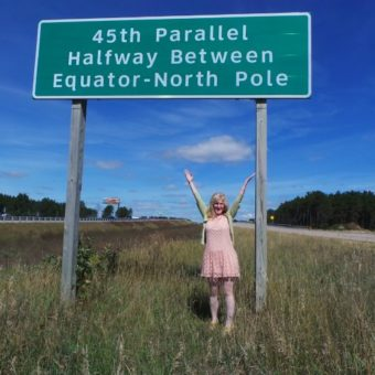 Driving the 45th Parallel North in the United States
