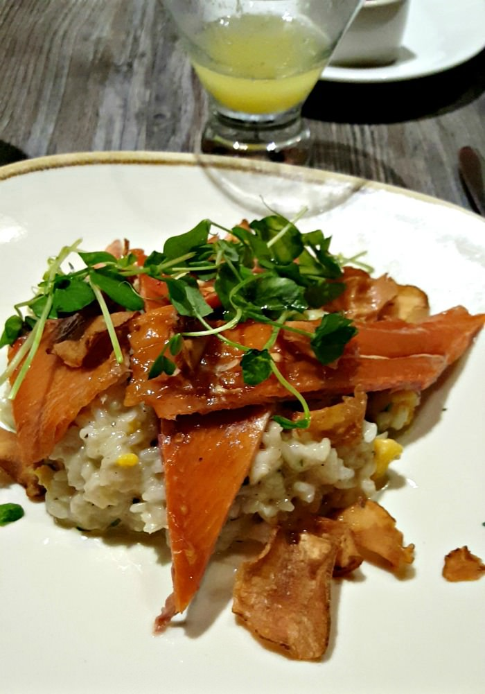 The Algonquin Hotel Round Table Restaurant Review New york City smoked trout Risotto