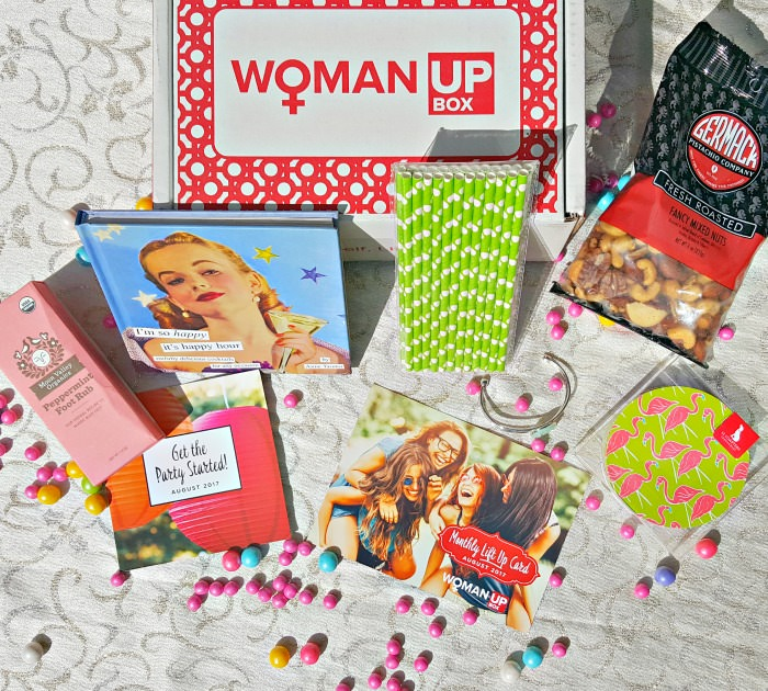 Woman Up Box Montly Subscription Box August 2017