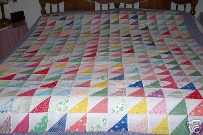 half squares quilt
