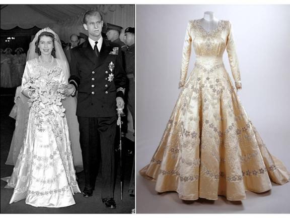 Queen-Elizabeth-wedding-dress