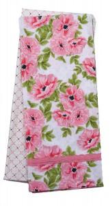 SpringBotanical_Pink_Towel_Set