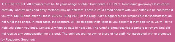 Blog Pop Disclaimer statement
