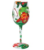 Ugly Christmas Sweaters Wine glass 150