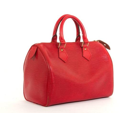 Louis Vitton Red epi speedy 25 bella bag