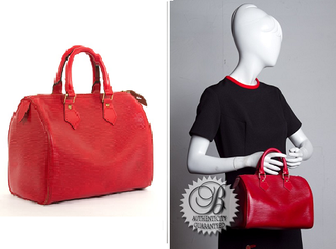 Fashionista Events Bella Bag red epi Speedy
