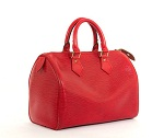 Louis Vitton Red epi speedy 25 bella bag 150