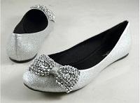 Silver Flats Sonja Christmas Wedding Shoes