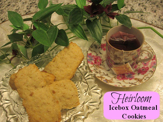 Heirloom Ice Box Oatmeal Cookie Recipe words