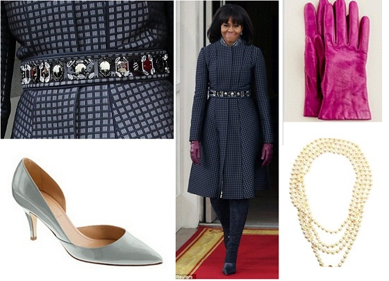 Inauguration Day gloves shoes necklace belt