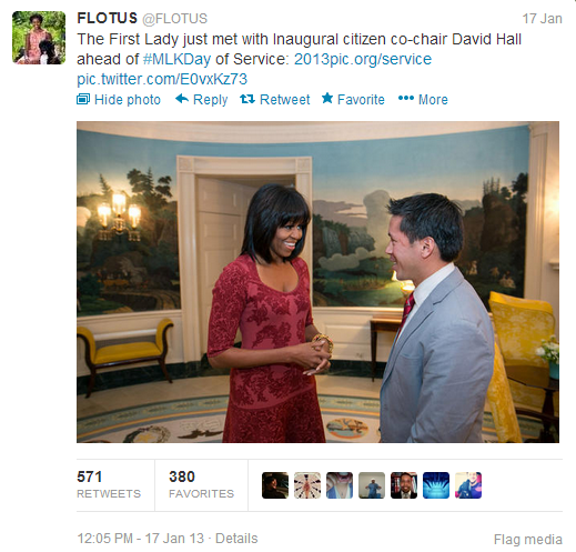 Michelle Obama Bangs Tweet