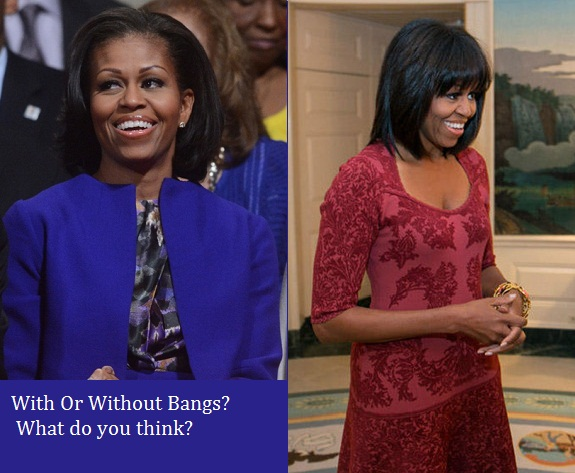 Hairstyles For Women Over 45: Michelle Obama Bangs, How Tos