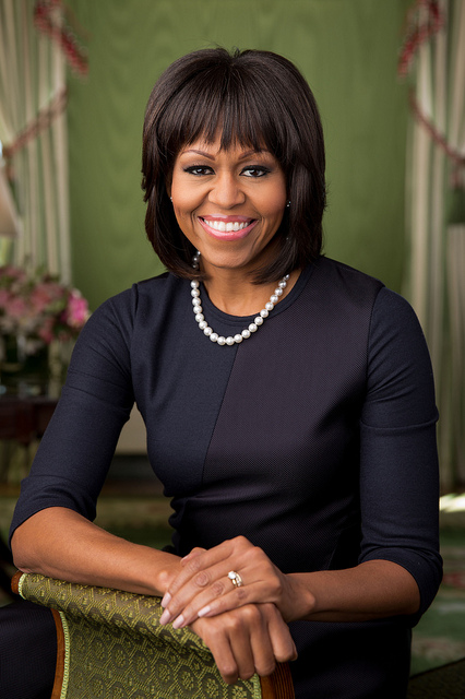 Michelle Obama Official Portrait 2013 2009 second term first term (Chuck Kennedy via WHite house Flicker)