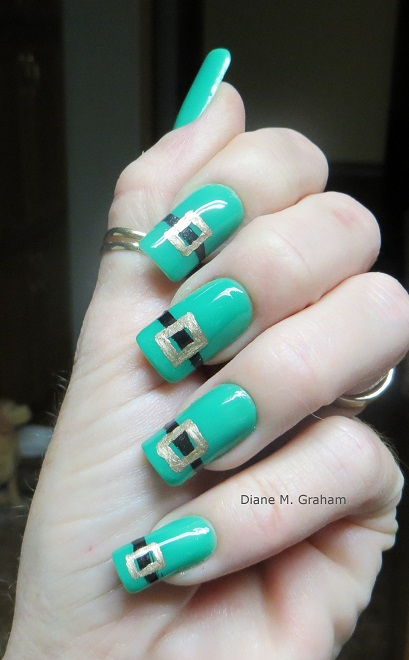 St Patricks Day Manicure Leprechaun belt