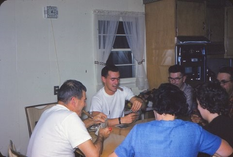 Playing cards around Grandma's Table