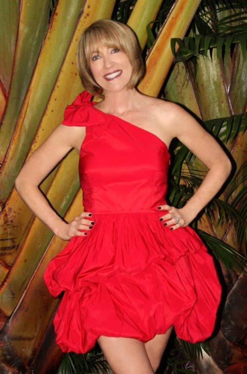 Ellen Dolgen Menopause Mondays Red Dress Cropped