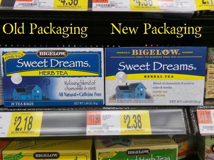 Bigelow Tea New Packaging Sweet Dreams #shop