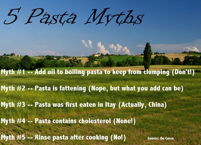 5 Pasta Myths