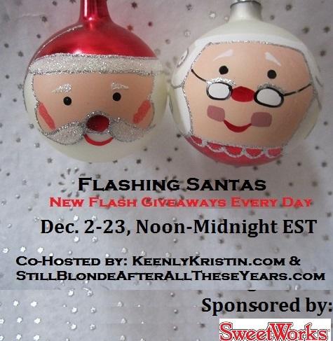 flashing santas