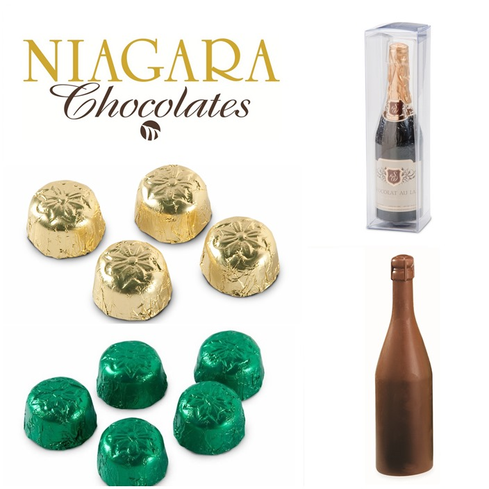 Niagara chocolates Chamagne bottle and crouquettes