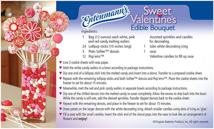 Entenmann's Bakery Valentine Donut Bouquet