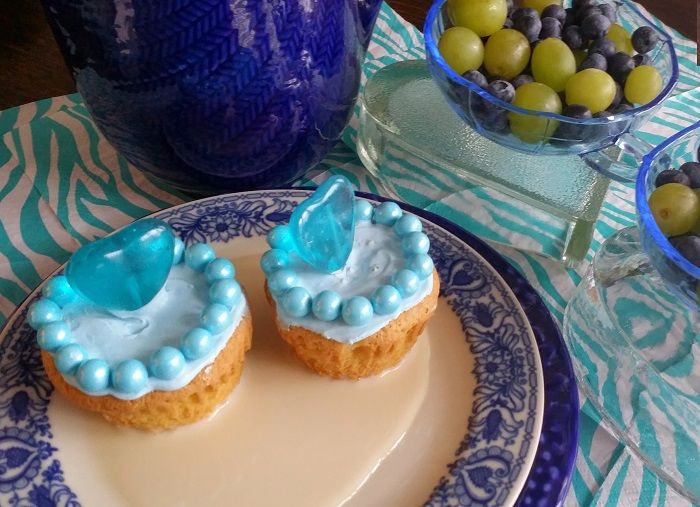 Blue Tres Leches Cupcakes