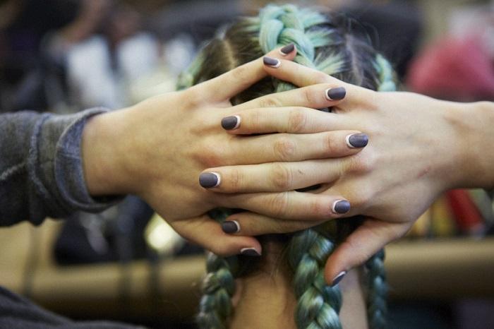 DKNY NYFW 2014 manicures