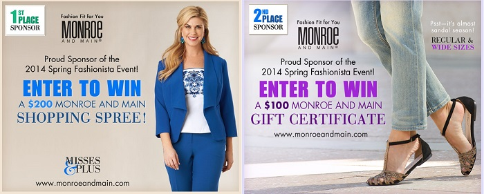 Monroe and Main Fashionista Events Sponsor