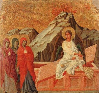 Easter empty tomb duccio