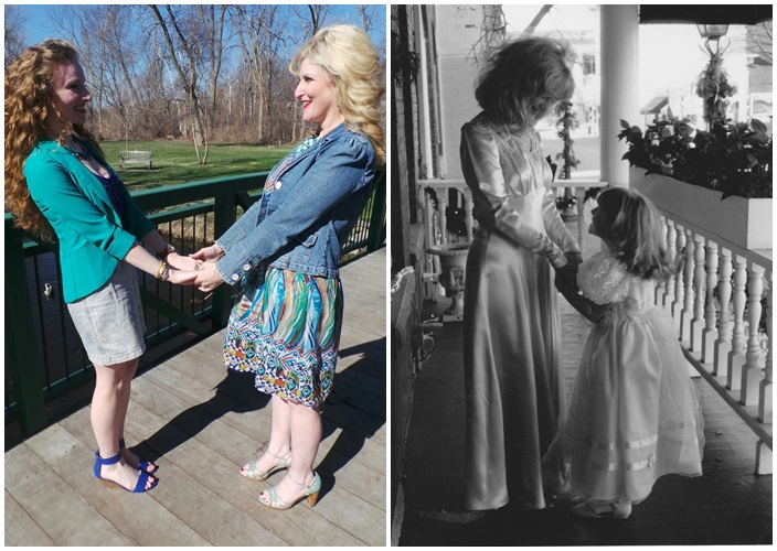 then and now Mother Daughter Outfits
