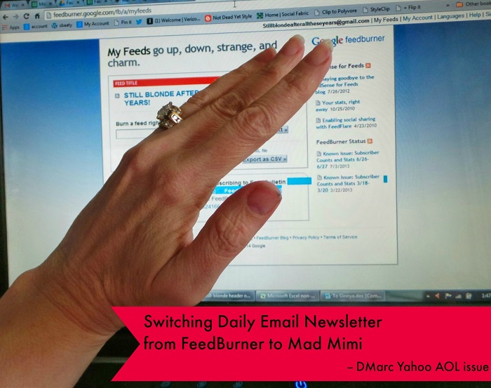 Feedburner DMARQ AOL Yahoo Emails 2