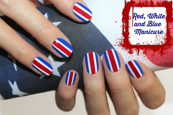 red white and blue Manicures red white and blue nail art