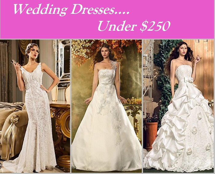 Wedding dresses under $250