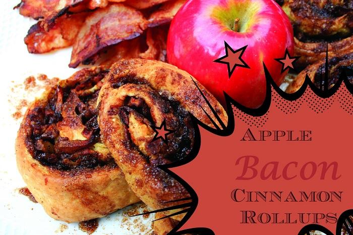 Apple Bacon Cinnamon Rollups